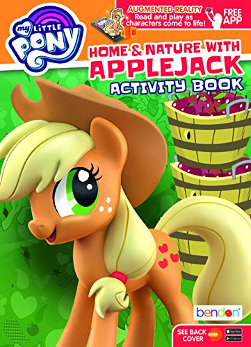 My Little Pony Apple Jack MLP Augmented Reality Coloring and Activity Book Bendon 45567