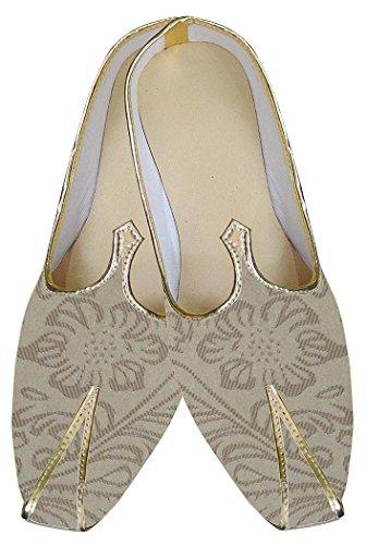 INMONARCH Hombres Dorado Impresionante Indio Boda Zapatos MJ0180