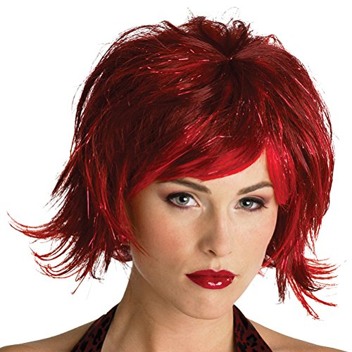 Red Black Pixie Wig Gothic Theatre Costumes Accessory Costume Wig