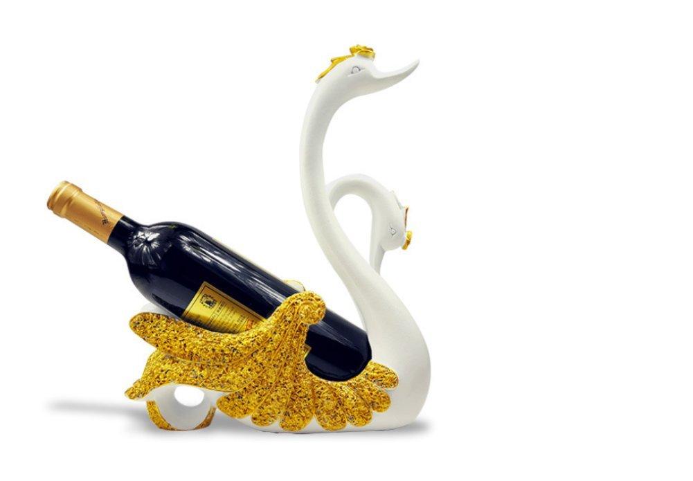 SMQ Porta vinos de Estilo Europeo Ornamentos de Cisne del hogar de Accesorios de Sala de decoración de mobiliario Armario de vinos de artesanía: Amazon.es: ...