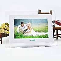 7 Inch TFT LCD Wide Screen Digital 2000 Photos Display Frame with Calendar Support Tf Sd /Sdhc /Usb Flash Drives- Support 32GB SD Card Photo Digital Gift
