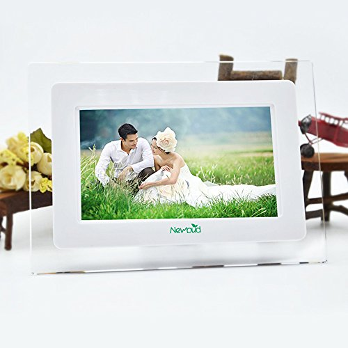 HD TFT-LCD Digital Photo Frame Electronic Frame Alarm MP3/4 Movie Player with Remote Desktop (Style1)