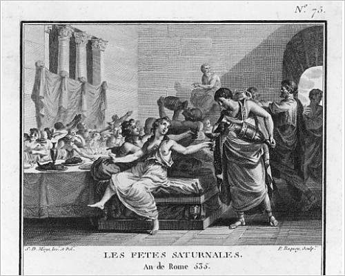 Photographic Print of Roman orgy to celebrate the - Orgie First