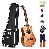 Ukulele Concert Mahogany 23 inch Premium Acoustic Ukulele Vintage for Beginners Bundle Best Ukelele Kit, by Vangoa