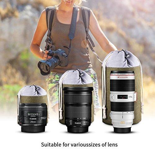 Zecti Kamerarucksack Professional Shockproof Kamera Rucksack aus Canvas Leinenstoff DSLR Rucksack