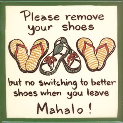 Printable Aloha Please Remove Your Shoes Mahalo Hawaiian Shoes Off Sign Hibiscus Flower Remove Shoes Hawaiian Remove Shoes Sign