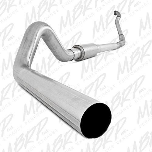 MBRP S6218P Turbo Back Single Side Off-Road Exhaust System with Aluminized Downpipe Back Off Road Exhaust System
