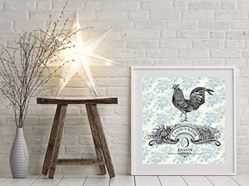French Country Farm Fresh Eggs Canvas Print