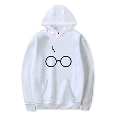 72719216127f SIMYJOY Femme Harry Potter Fans Sweats Foudre Cicatrice des Lunettes Pulls  Casual Cool Mignon Sweat à