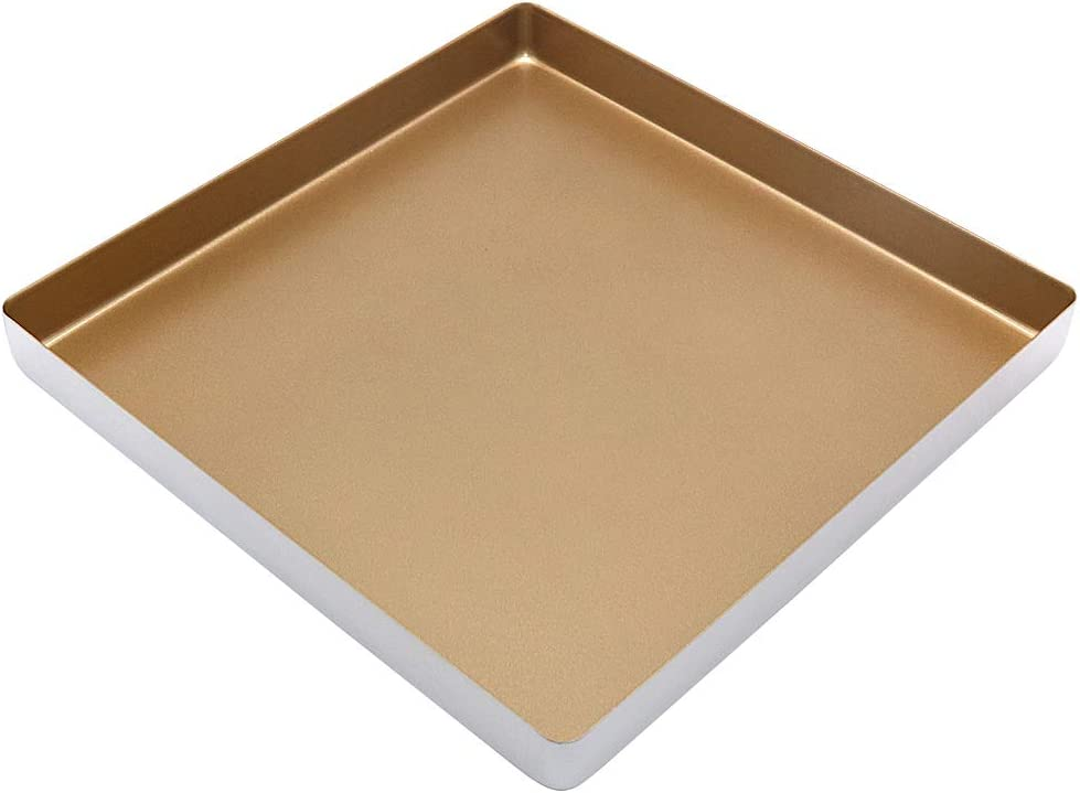 11 Inch Square Baking Pan, Nonstick Aluminum Alloy Baking Sheet Pan/Square Cookie Sheet/Toaster Oven Pan (11x11 Inch)