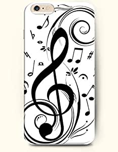 Phone Case for iPhone 6 Plus 5.5 Inches with the Design of Music Note