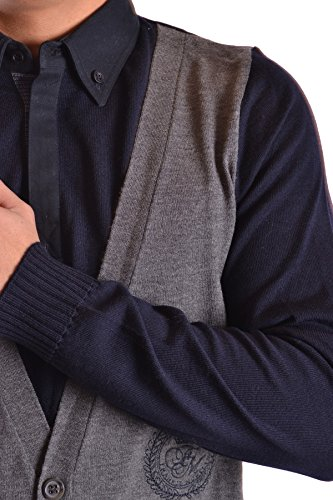 Frankie Morello Homme MCBI125031O Bleu Laine Gilet