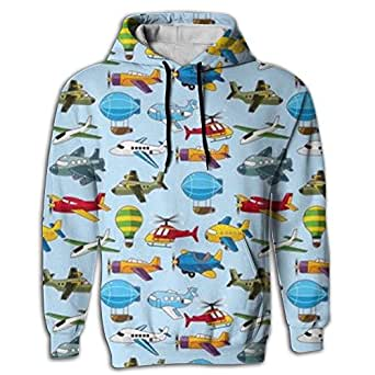 Men's Hoodie First Quality Tops Shirt Coat With Cap Airplane Plane Aircraft Juniors