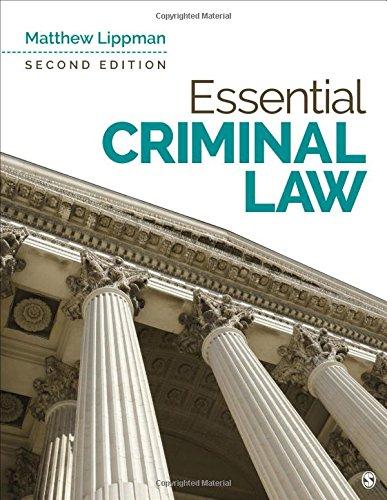 Pdf Law Essential Criminal Law