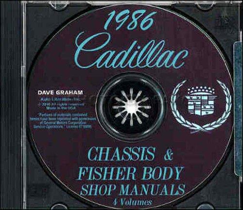 1986 CADILLAC REPAIR SHOP & SERVICE MANUAL & FISHER BODY MANYAL CD Eldorado, Seville, Sedan de Deville, Coupe de Ville, Fleetwood, & Fleetwood Brougham models. 86 (Seville Coupe)