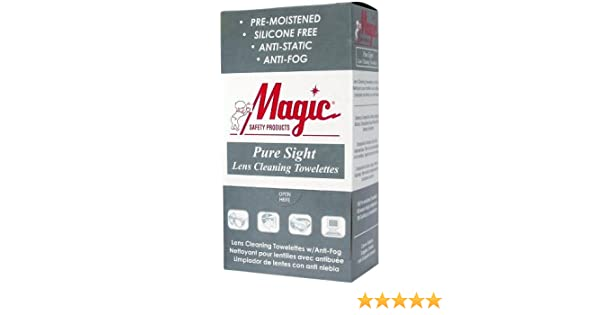Amazon.com : Lens Cleaning Towelettes Pure Sight Wrapped by Magic Safety - MS93165 (1 Box) : Beauty