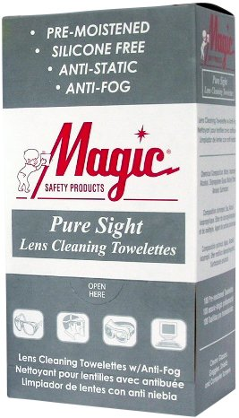 Lens Cleaning Towelettes Pure Sight Wrapped by Magic Safety - MS93165 (5 Boxes) by Magic Safety