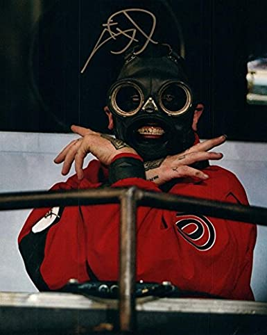 Slipknot Sid Wilson Live Concert Mask Autographed Signed Photo AFTAL