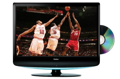 Haier HLC19R 19-Inch Widescreen LCD HDTV with Built-In DVD Player (Black)