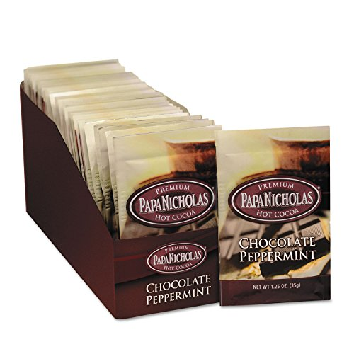 PapaNicholas Coffee 79424 Premium Hot Cocoa, Chocolate Peppermint, (Make Peppermint Hot Chocolate)