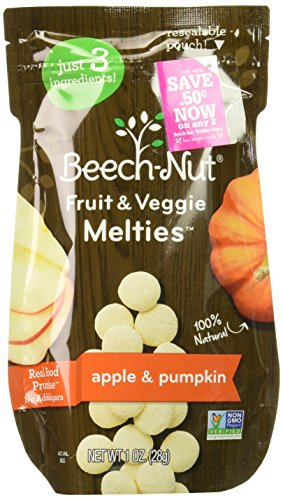 Beech-Nut Apple & Pumpkin Fruit and Veggie Melties, 1.0 Ounce (Pack of 7) by Beech-Nut