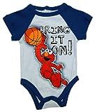 Sesame Street Elmo Bring It On Basketball Jim Henson Cartoon Baby Snapsuit