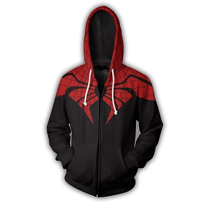 Sudaderas con Capucha para Hombre Spiderman Sudaderas con Capucha Impresas en 3D Sudadera con Capucha y Cremallera Sudadera para Exteriores: Amazon.es: Ropa ...