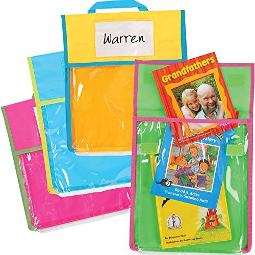 Medium Clearview Book Pouches - Neon Multicolor - 36 by Really Good Stuff