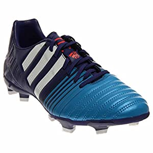 adidas Performance Men's Nitrocharge 3.0 Firm-Ground Soccer Cleat, Amazon Purple/Running White/Solar Blue, 10 M US