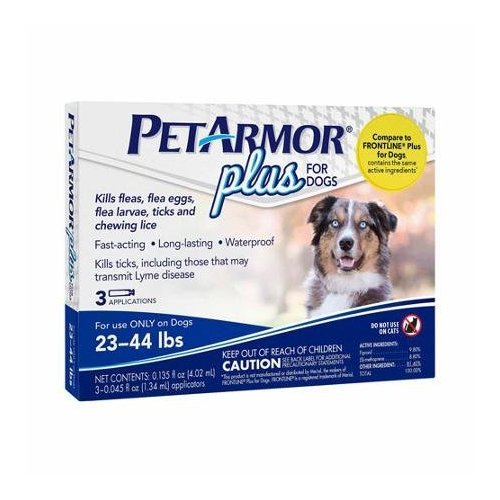 PETARMOR PLUS FOR DOGS 23-44 LBS.