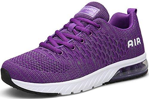 Seecee Unisexe Chaussures De Sport Course Coussins D'air, D'espadrille 36-45 Eu 5 Couleurs Violette