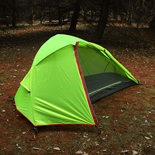 Luxe Tempo 3.3LB 1 Person Backpacking Tent Solo with Free Mattress and Footprint Minimalist Pitch Option