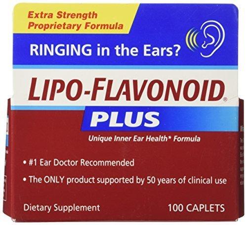 Lipo-Flavonoid Plus Unique Ear Health Formula, Caplets, 100 ct. by DSE Healthcare Solutions, LLC