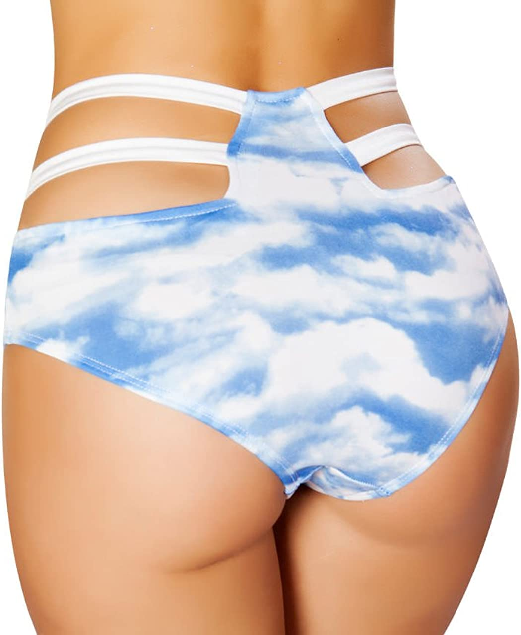 Roma Womens Ravewear Festival Strappy Style High Waisted Shorts