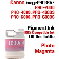 Photo Magenta Pigment Ink 1000ml 100% compatible bottle...