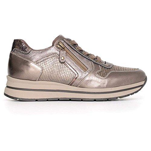 Nero Giardini Sneaker Grigia E In Donna Camoscio Pelle q6BqrwZW4