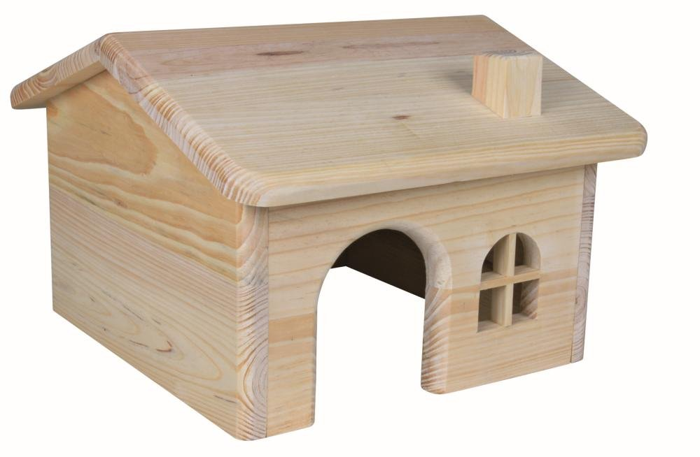 Lovely Wooden Cottage for Guinea Pigs (28 × 17 × 27 cm)