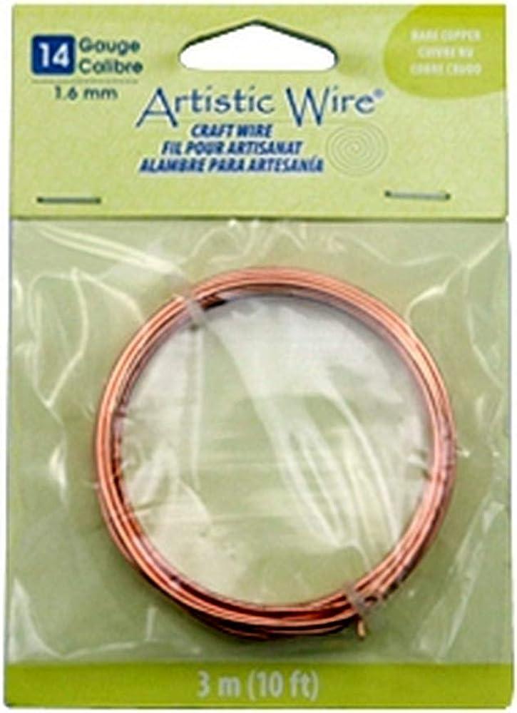 N/ähendes G/ärtnerlein 3.1 Meter 14 Gauge Artistic Wire Bare Copper
