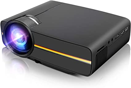 Mini Projector,LoongSon Portable Video Projector Full HD 1080P Supported for Home Theater Movie Projector with 30,000 Hours LED, Compatible with TV ...