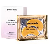 Grace & Stella Collagen Eye Masks 24K Gold Hydrogel Anti-Aging Under Eye Patches, Treatment for Puffy Eye Bags, Dark Circle Wrinkles Pads, Improve Elasticity Elimiate Tiredness Puffiness