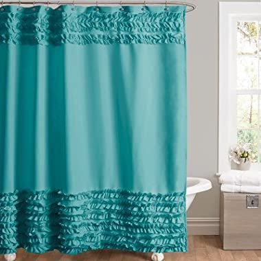 Lush Decor Skye Shower Curtain, 72 by 72-Inch, Turquoise