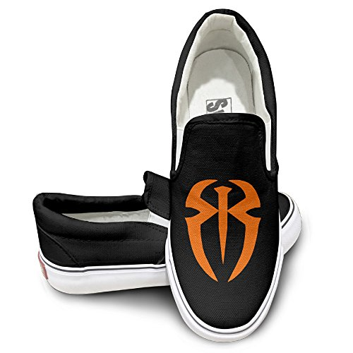 MGTER66 Roman Reigns Logo Street Dance Slip On Sneaker Unisex Style Color Black Size 38
