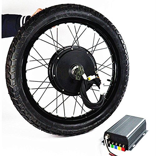 19inch 5000W Electric Bicycle Conversion Kit with tire, Electric Bike Conversion Kit, Electric Bike Kit, 5000W Hub Motor,72V 100A Sine Wave Programmable Controller
