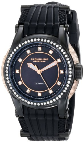 Stuhrling Original Women's 915.02 Vogue Illusion Analog Display Quartz Black Watch