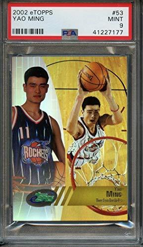 - 2002 e-topps #53 YAO MING houston rockets rookie card PSA 9