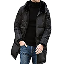 PINGORA Men's Winter Thickened Hooded Down Puffer Coat Parka