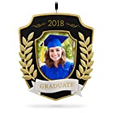 ornament frame - Hallmark Keepsake 2018 Graduation Gift Congratulations Year Dated Porcelain and Metal Photo Picture Frame Christmas Ornament