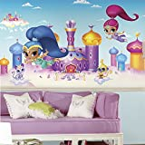 RoomMates JL1385M Shimmer & Shine Xl Chair Rail Prepasted Mural 6' x 10.5' - Ultra-Strippable