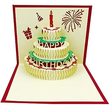 3D Pop Up Birthday CardsBirthday Greeting Cards Handmade Happy Envelopes For Sister Mom Wife Kids Boy Girl Friend