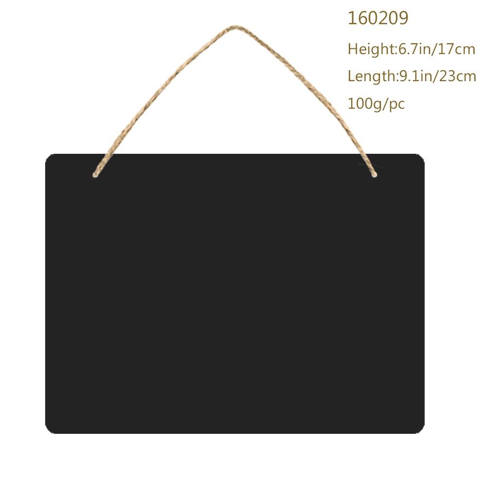 schwarzes Brett doppelseitig Aufh/ängeschild mit Seil zum Aufh/ängen l/öschbar Ultnice Kreidetafel f/ür Hochzeiten